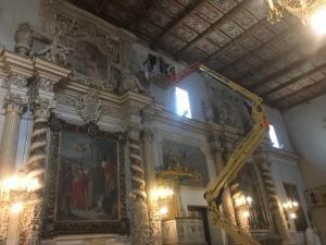 Messa in sicurezza chiesa Santa Lucia aci catena