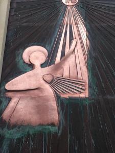 Restauro portone in rame Chiesa sacro cuore Acireale